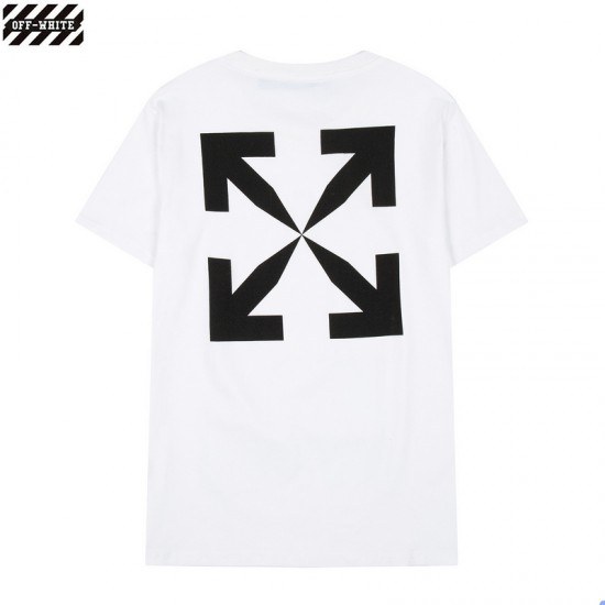 A generation of 2021 new OFF ~ WHITE short-sleeved Mona Lisa front yard? OFF arrow T-shirt men and women cotton